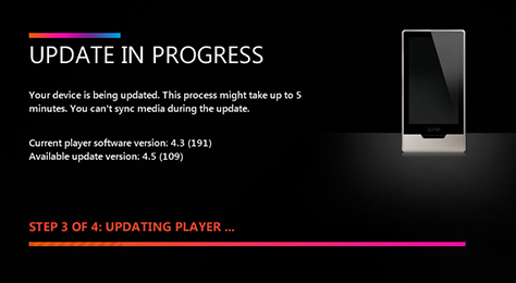 Zune HD 4.5 Firmware Update